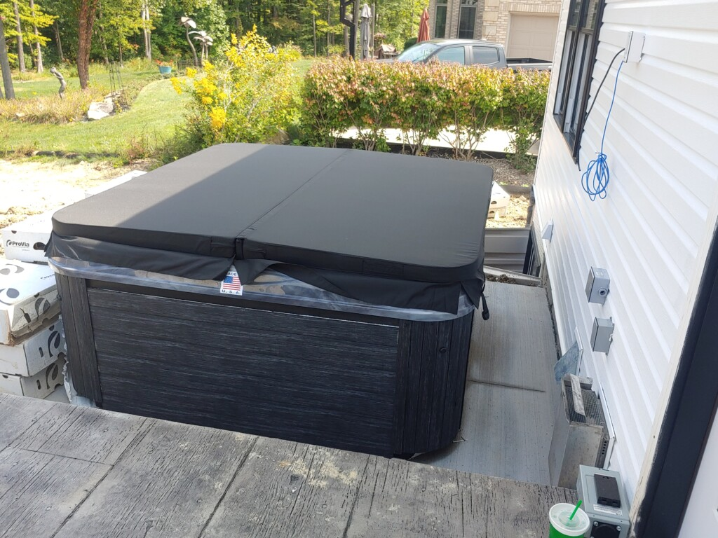 hottub in place